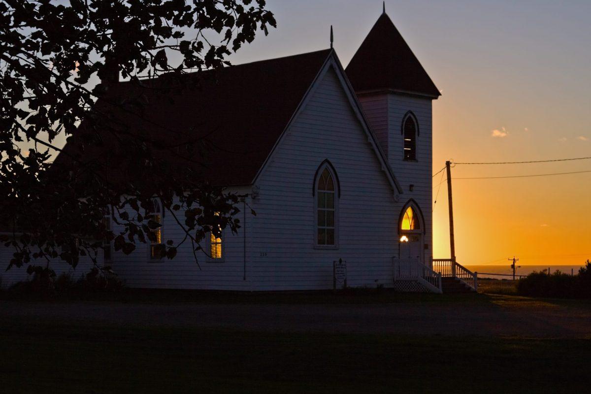 Mystical light at the church